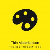 Umělec Paint Palette minimální jasně žlutý materiál ikona