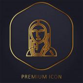 Kunst goldene Linie Premium-Logo oder Symbol