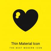 Big Heart minimální jasně žlutý materiál ikona