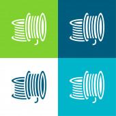 3D tisk vlákna Byt čtyři barvy minimální ikona nastavena