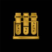 Vérminta aranyozott fémbevonatú ikon vagy logó vektor