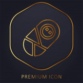 Zlatá čára prémie logo nebo ikona