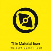 Big Point Compass minimales hellgelbes Materialsymbol