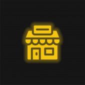 Agentura žlutý zářící neon ikona