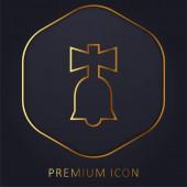 Bell Toy arany vonal prémium logó vagy ikon