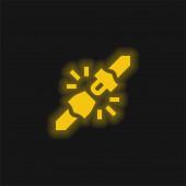 Gürtel gelb leuchtende Neon-Symbol