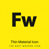 Adobe Fireworks minimální jasně žlutá ikona materiálu