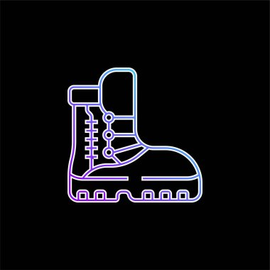 Boots blue gradient vector icon stock vector