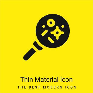 Bacteria minimal bright yellow material icon stock vector