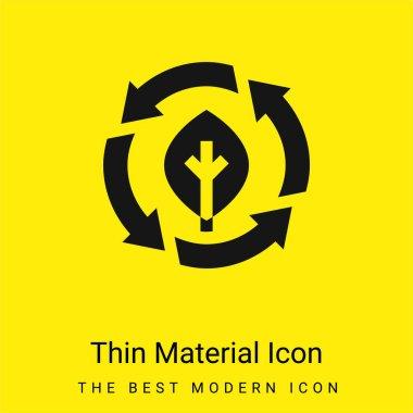 Bio minimal bright yellow material icon stock vector