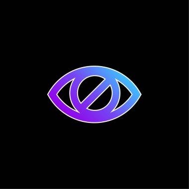 Blind Eye Sign blue gradient vector icon stock vector