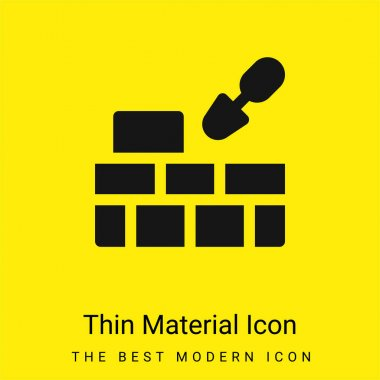 Brick Wall minimal bright yellow material icon stock vector