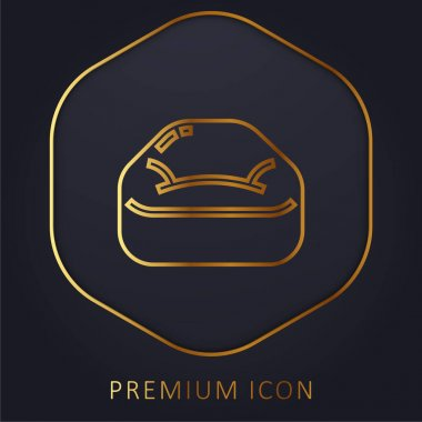 Bean Bag golden line premium logo or icon stock vector