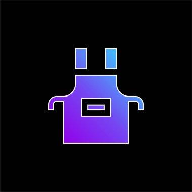 Apron blue gradient vector icon stock vector