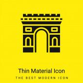 Arc De Triomphe minimální jasně žlutý materiál ikona