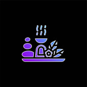 Aromatherapy blue gradient vector icon