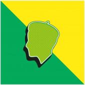 Profil umělce Zelené a žluté moderní 3D vektorové logo