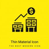 Akquisition minimales leuchtend gelbes Materialsymbol