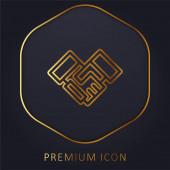 Dohoda zlatá čára prémie logo nebo ikona