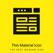 Bloggen minimal leuchtend gelbes Material Symbol