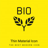 Bio minimal bright yellow material icon