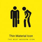 Naštvaná minimální jasně žlutá ikona materiálu