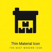Dobozok minimális fényes sárga anyag ikon