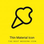 Kousnutá zmrzlina Cone obrys minimální jasně žlutý materiál ikona
