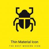 Brouk minimální jasně žlutý materiál ikona