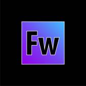 Ikona vektoru modrého přechodu Adobe Fireworks