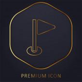 Birdie goldene Linie Premium-Logo oder Symbol