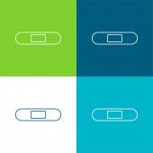 Pásmová pomůcka Silueta s bílými detaily Flat čtyři barvy minimální ikona sada