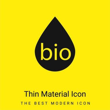Bio Fuel minimal bright yellow material icon stock vector