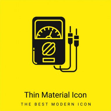 Ammeter minimal bright yellow material icon stock vector