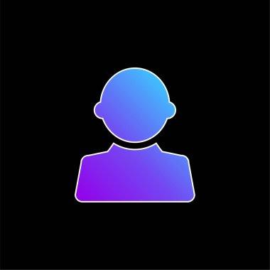 Black User Male Shape blue gradient vector icon stock vector