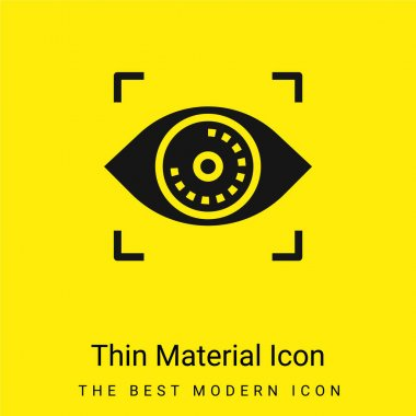 Biometric Recognition minimal bright yellow material icon stock vector