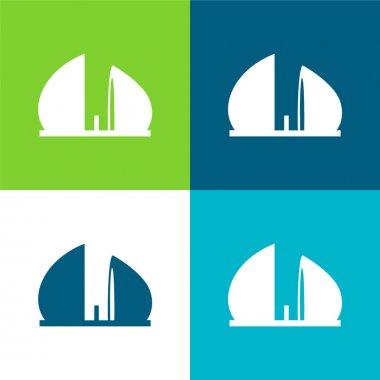 Al Shaheed Monument Of Iraq Flat four color minimal icon set