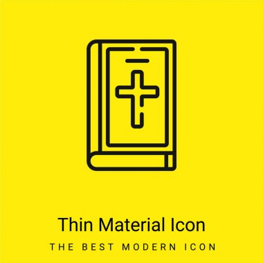 Bible minimal bright yellow material icon stock vector