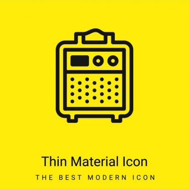 Amplifier minimal bright yellow material icon stock vector