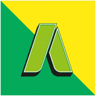 Adwords Green and yellow modern 3d vector icon logo