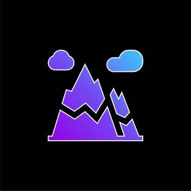Alps blue gradient vector icon stock vector