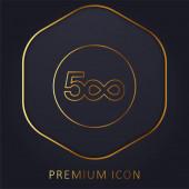 500px Logo goldene Linie Premium-Logo oder Symbol