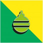 Bauble Zöld és sárga modern 3D vektor ikon logó