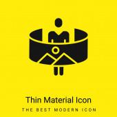 360 minimális élénk sárga anyag ikon