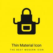 Apron minimal bright yellow material icon