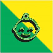 Baby Green a žluté moderní 3D vektorové logo