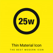 25 Watts Lamp Indicator minimal bright yellow material icon