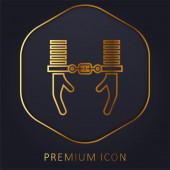 Zatknout prémiové logo nebo ikonu zlaté linie