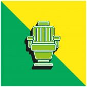 Karosszék Zöld és sárga modern 3D vektor ikon logó