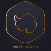 Logo nebo ikona prémie antarktické zlaté linie